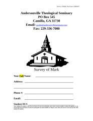Survey of Mark.doc