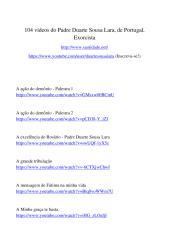 104 vídeos do Padre Duarte Sousa Lara.pdf