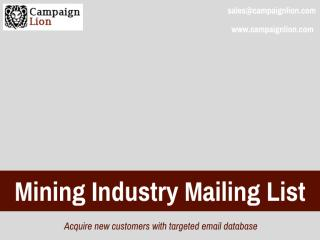 Mining Industry Mailing List.pdf
