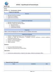 MIT023 - Especificação de Parametrização.doc